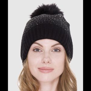Sherpa Lined Bling Knitted Beanie